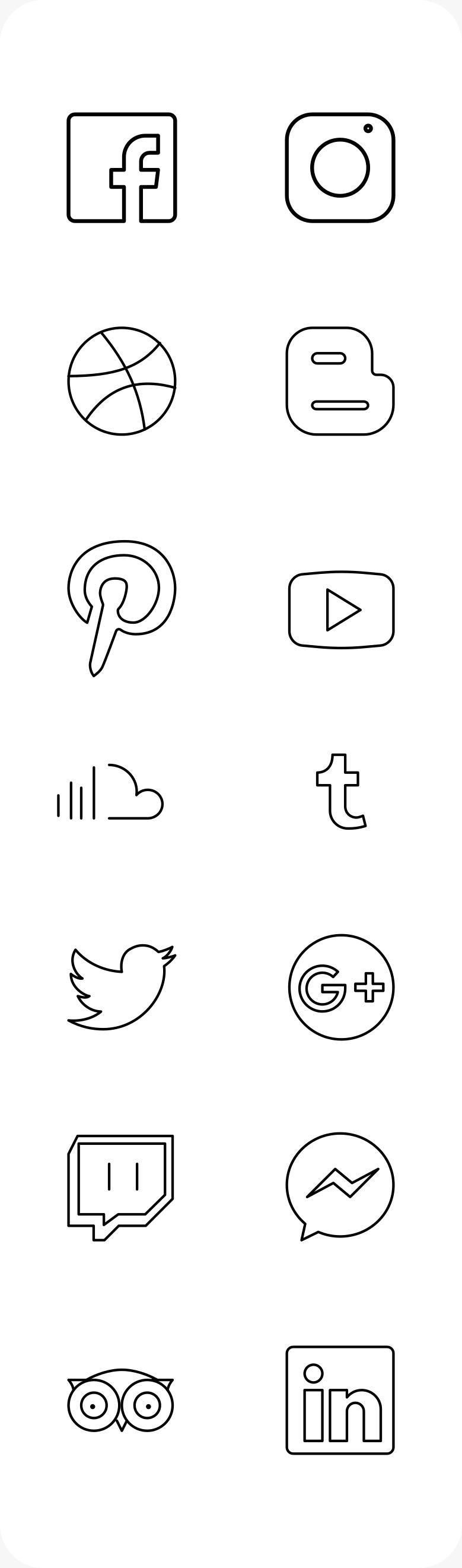 iconos redes sociañes